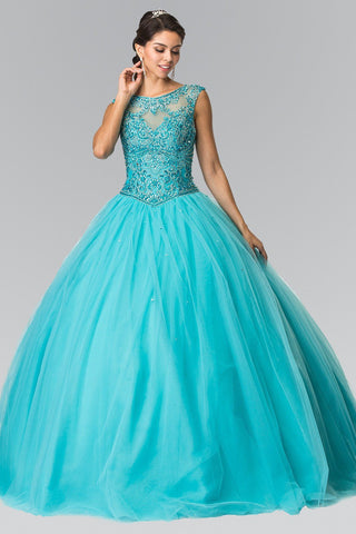 Cheap Ball gown prom dress Quinceanera sweet 16 dress gl2352Aqua - Simply Fab Dress