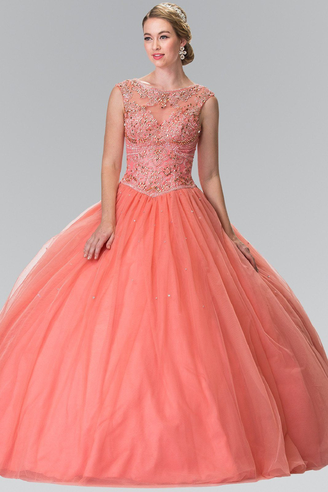 Coral Quinceanera sweet 16 dress gl2352 – Simply Fab Dress