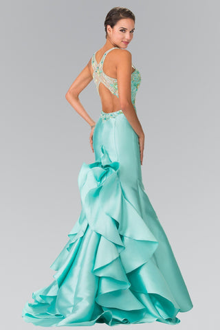 Mermaid lace tulle prom dress 103-gl2243