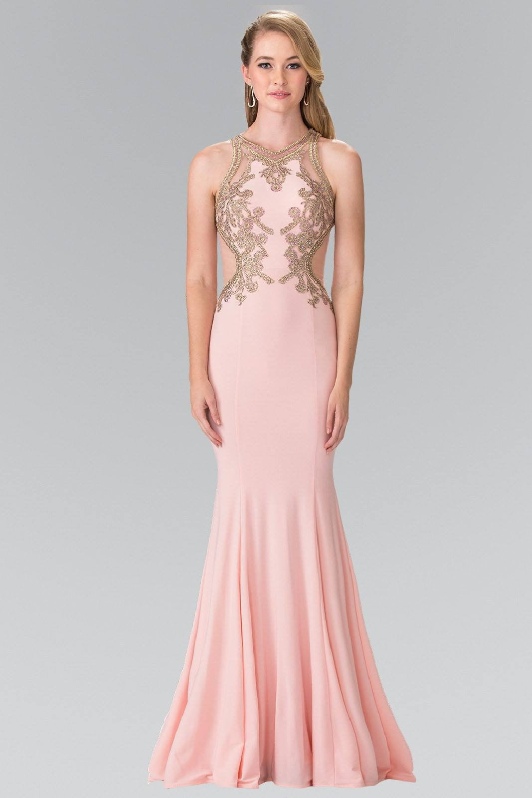 Gold top long prom dress GL2321 – Simply Fab Dress