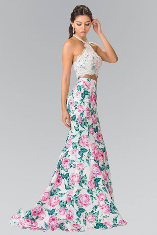 Cheap 2 piece floral Mermaid prom dress # GL2259 - Simply Fab Dress