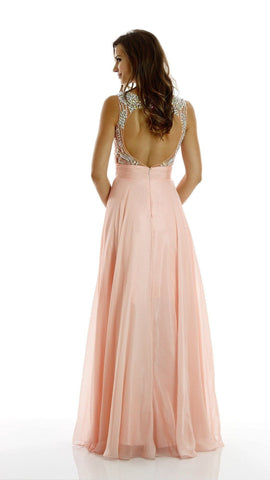 Cheap Gorgeous illusion neckline dress with full rhinestone bodice and back. 101-7136 Prom dress Evening gown Bridesmaid dress - Simply Fab Dress