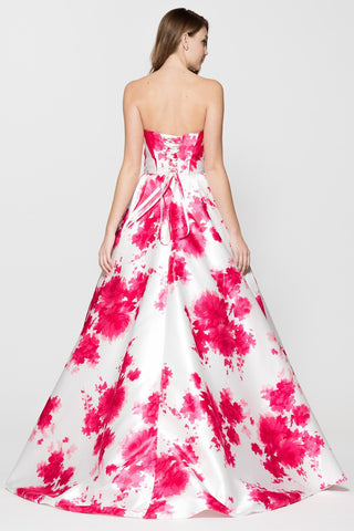 Stunning strapless 2017 floral print prom dress BC#MZ2929 - Simply Fab Dress