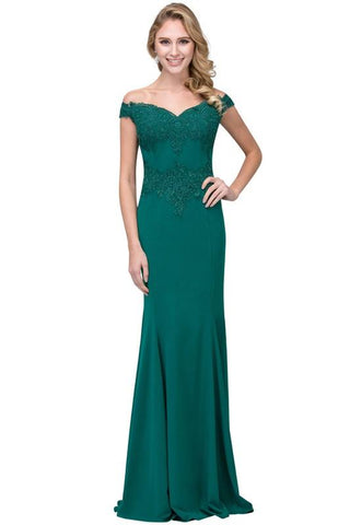 Off the shoulder formal dress #BC SL17420-Simply Fab Dress