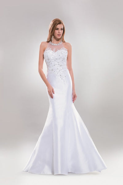 Satin mermaid informal wedding dress AB#sp6838 Plus Size - Simply Fab Dress
