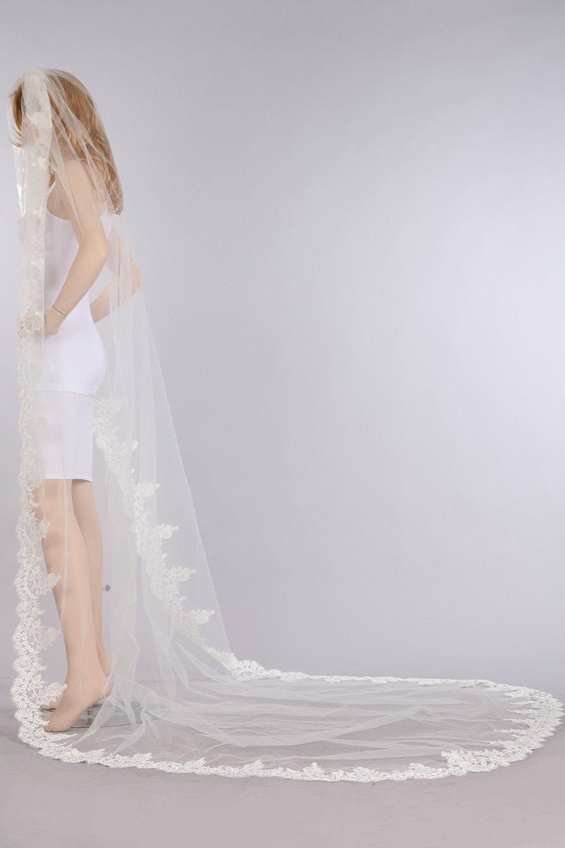 Cathedral train wedding Veil  V1061-120 - Simply Fab Dress