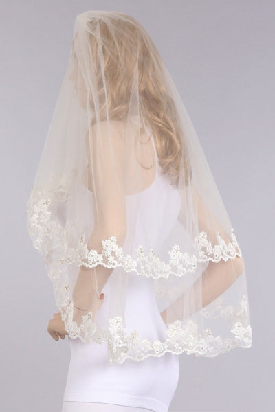 Lace wedding Veil  V1062-36 - Simply Fab Dress