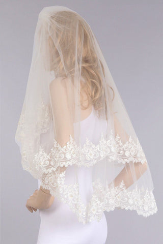 Lace wedding Veil  V1063-36 - Simply Fab Dress