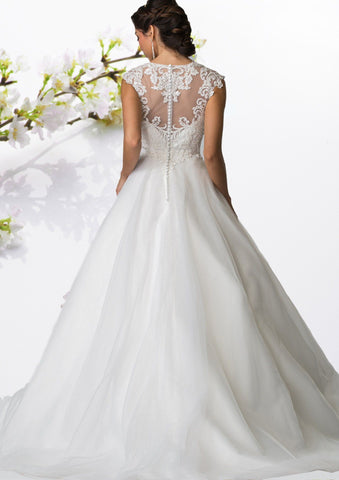 Elegant A-line Ballgown Wedding Dress 103-gl2368 Wedding Dress Affordable wedding dress - Simply Fab Dress