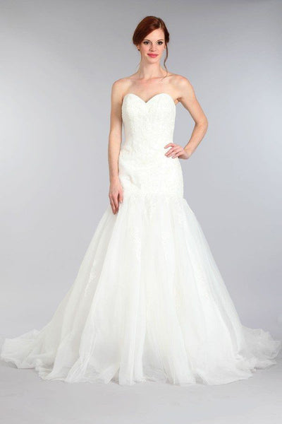 Trumpet Wedding Dress MT 194 - CLOSEOUT – Simply Fab Dress