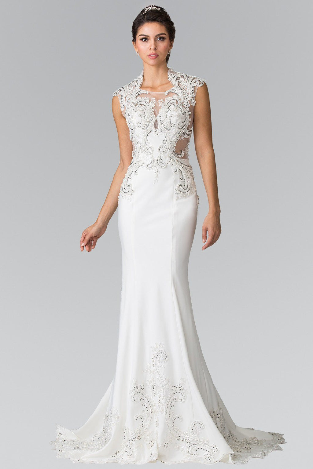 Glamorous fit and flare Wedding Dress 103-gl2326 Wedding Dress Affordable wedding dress - Simply Fab Dress
