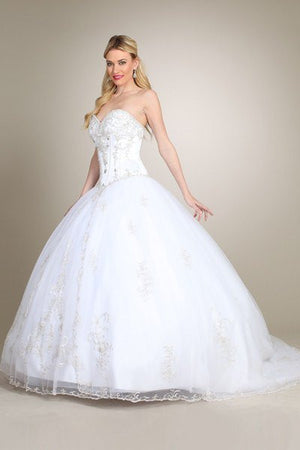 Gorgeous Strapless Ballgown Wedding Dress MT172 Affordable wedding dress - Simply Fab Dress