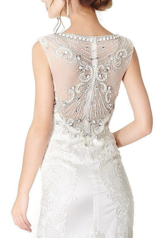 Lace Fit N Flare Wedding Dress 171-870 Affordable wedding dress - Simply Fab Dress