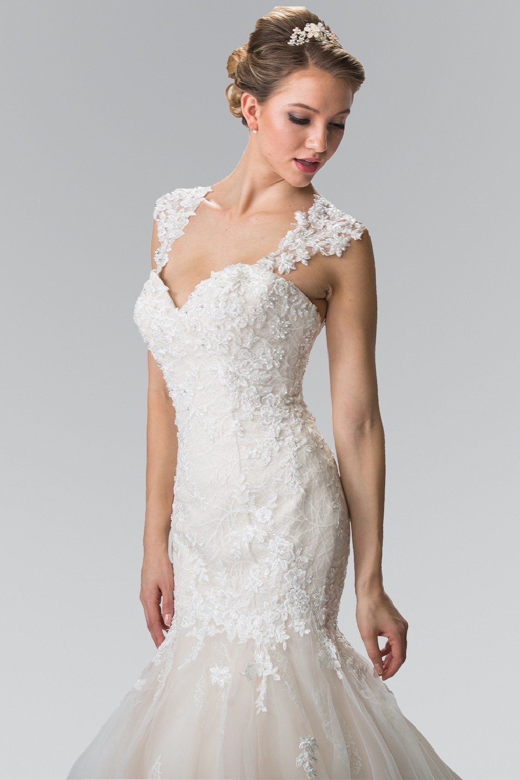 Champagne Ivory Lace Wedding Dress gls 2367 – Simply Fab Dress