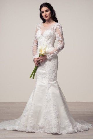 Long sleeve lace mermaid wedding dress frw16242 Wedding Dress Affordable  wedding dress - Simply Fab Dress 372e05e11
