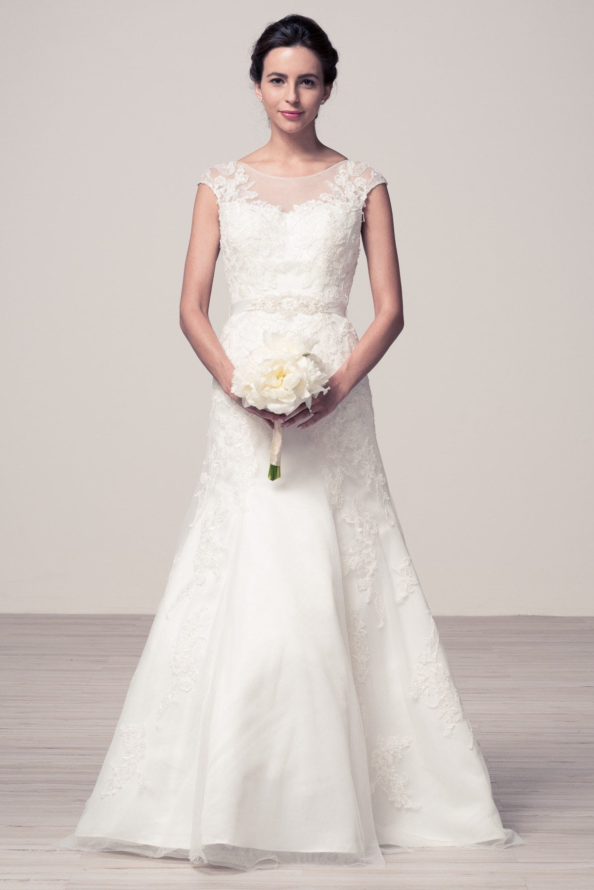 Romantic cap sleeve lace wedding dress #wjw2054 – Simply Fab Dress