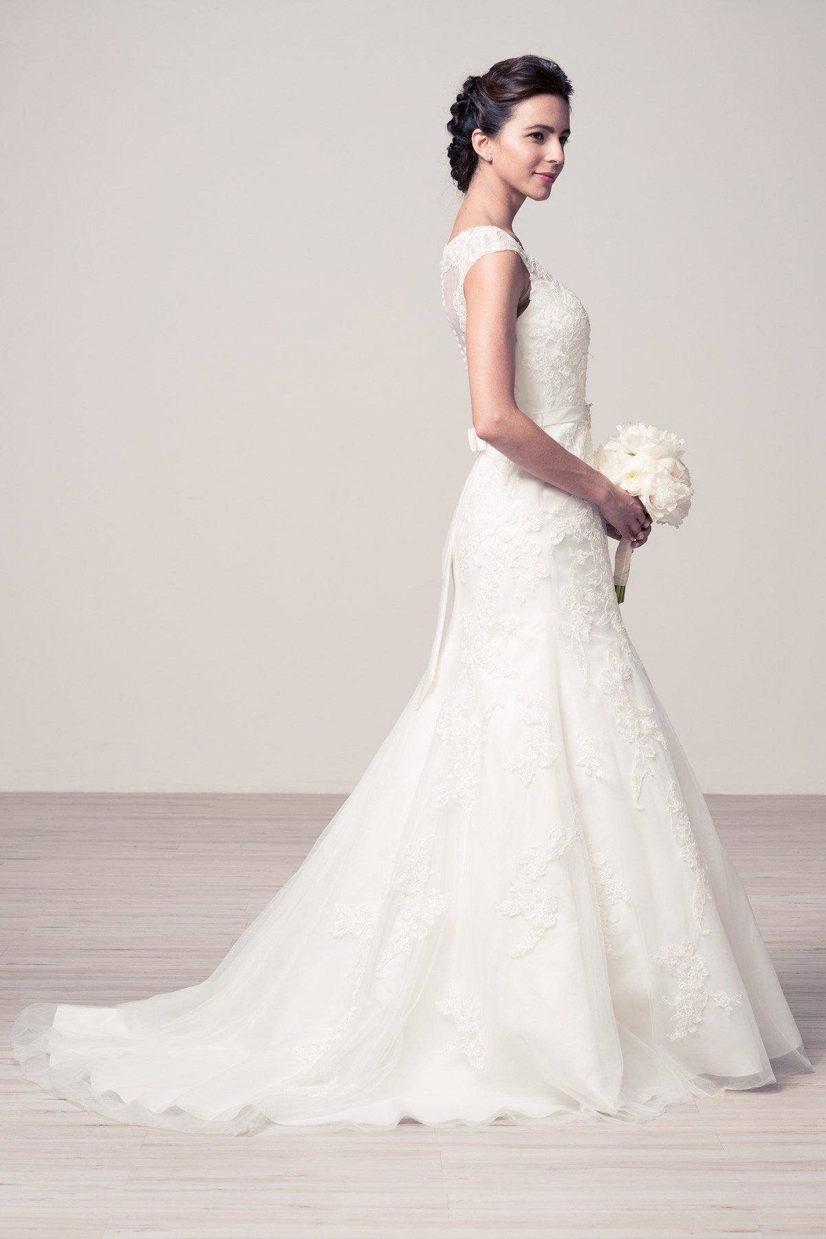 debc417f7d8a1 ... Romantic cap sleeve lace wedding dress #wjw2054 Affordable wedding dress  - Simply Fab Dress