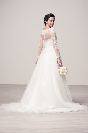 Romantic long sleeve lace wedding dress #wyw2183 Affordable - Simply Fab Dress
