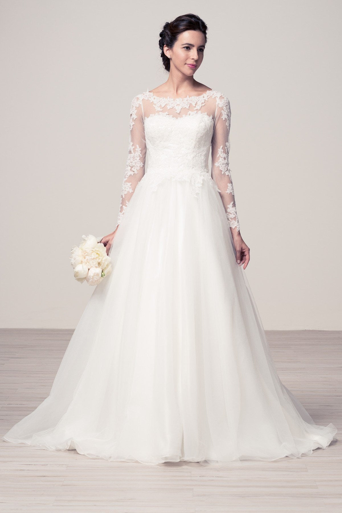Affordable ball gown wedding dress with long sleeve – Simply Fab Dress