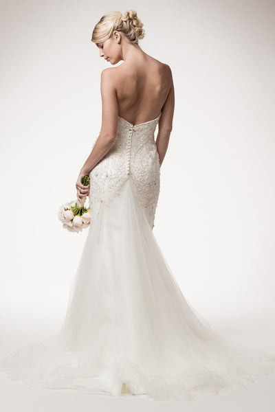 Sexy strapless beaded mermaid wedding dress #frw15514 Affordable wedding dress - Simply Fab Dress
