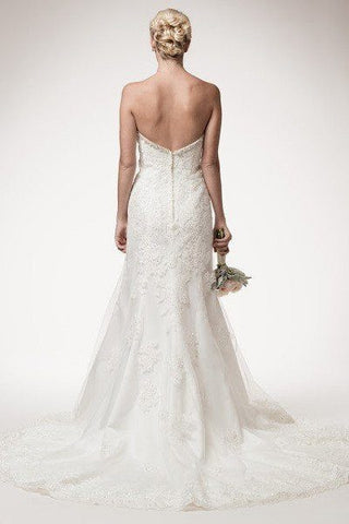 strapless lace a line wedding dress 106-hcw024 Wedding Dress Affordable wedding dress - Simply Fab Dress