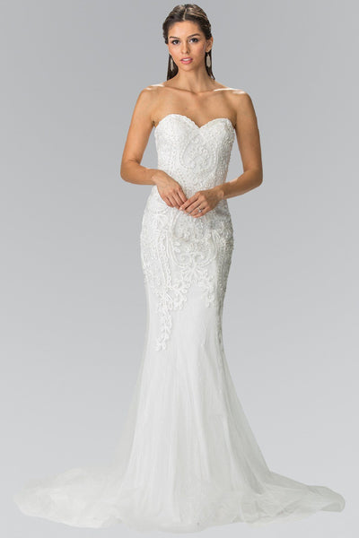 Strapless Mermaid Wedding Dress gl2264 Affordable wedding dress - Simply Fab Dress
