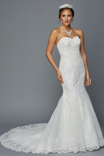 Strapless Mermaid Wedding Dress Jul#359 Affordable wedding dress - Simply Fab Dress