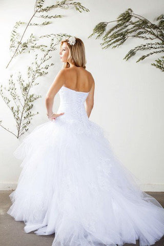 Strapless sweetheart neckline Ballgown Wedding Dress MT187 Affordable wedding dress - Simply Fab Dress