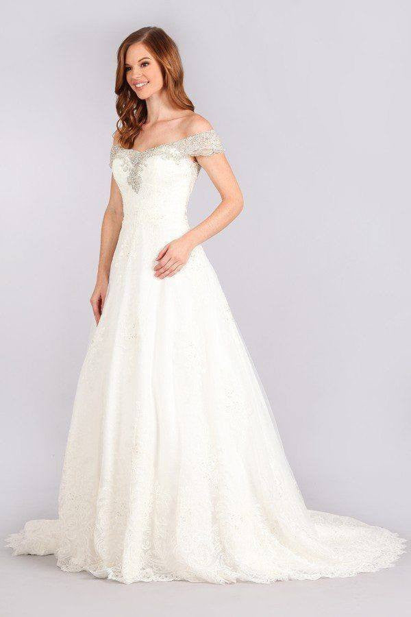 Off The Shoulder Wedding Dress Mt 216 Closeout Simply Fab Dress