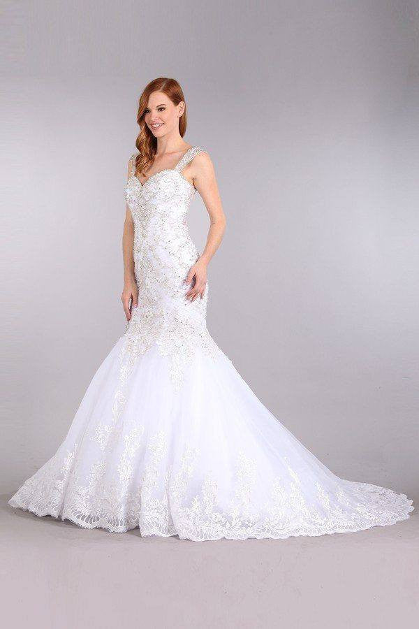 Stunning mermaid wedding dress-mt 231 - CLOSEOUT – Simply Fab Dress