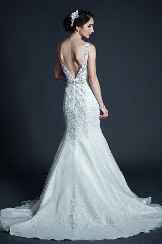 Sweetheart neckline cap sleeve mermaid wedding dress mt204 ...