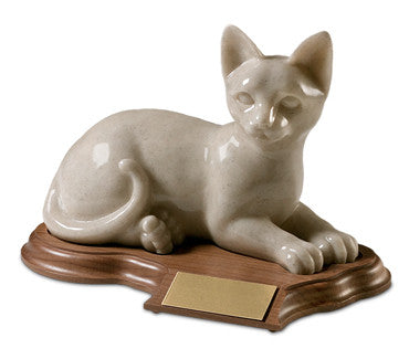 Laying Ceramic Cat