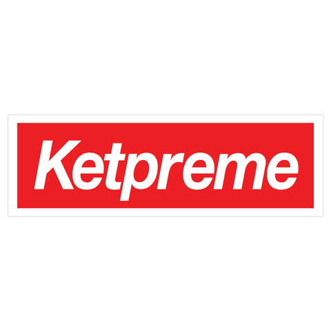 Ketpreme Sticker (White/Red)