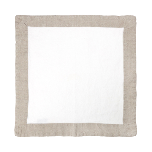 Leinen Serviette 45x45cm weiss/natural