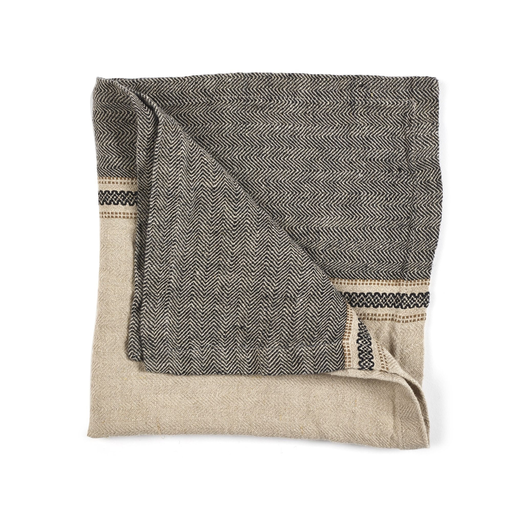 Serviette Thomp 50x50cm camel stripe