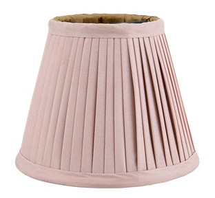 Shade light pink/gold lining, D11xH9cm