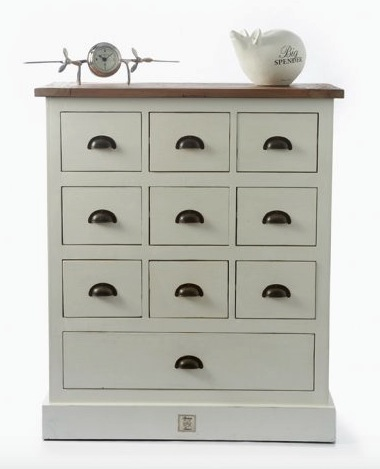 Newport Drawer Cabinet London 85x38H100cm
