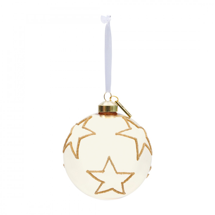 Christmas Star Ornament gold Dia 10