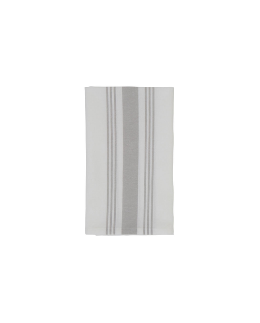 Hotel Striped Napkin grau weiss Serviette 50x50cm