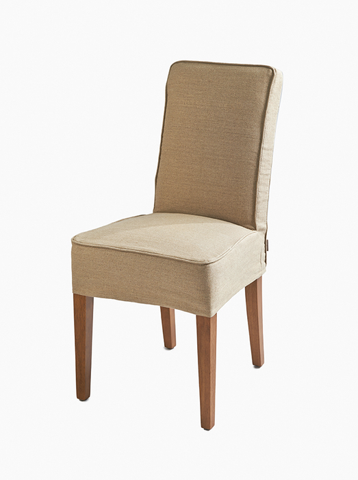 Cape Breton Dining Chair with loose Cover Flax