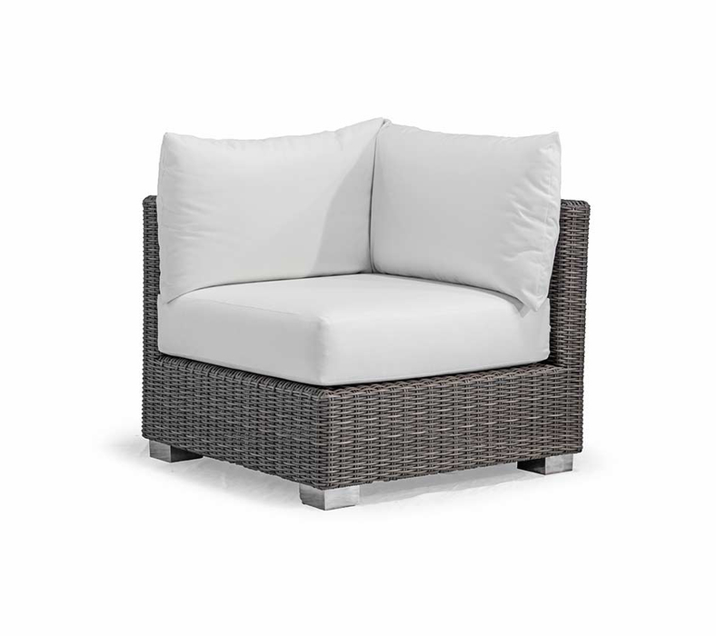 Bayview Lounge Corner 90x90x70h grey/white inkl. Kissen