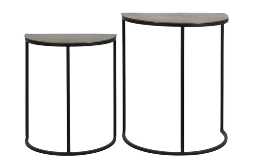 Besitelltisch set bronze black 40x23x49+46x30x55