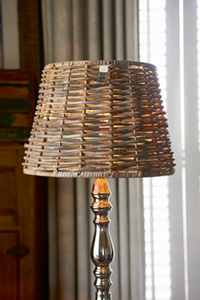 Colonial Rattan Tapered Lampshade Dia 37cm