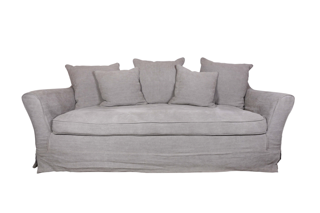 Sofa Arizona 3-Seater 230x110x80h, grey stone washed