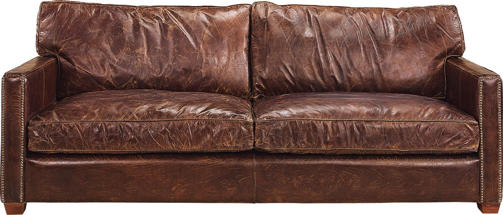 Viscount Sofa 2-Sitzer vintage Cigar 182x100x89h
