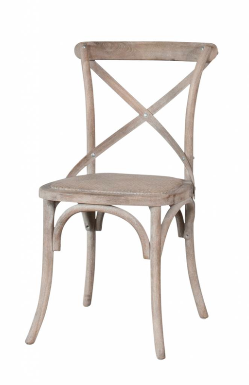 Cross Chair Oak 53x44x90h