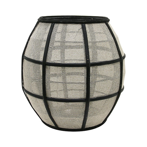 Laterne Bamboo ball black/nature