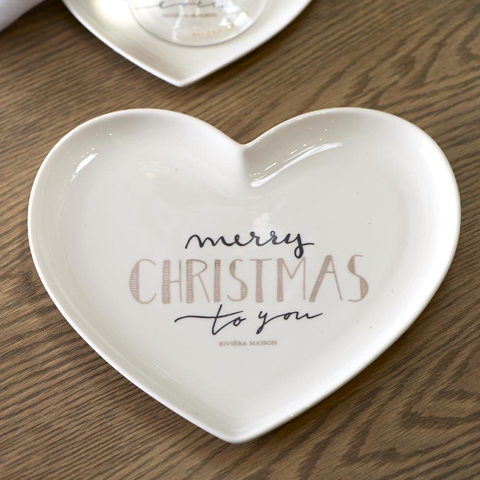 Merry Christmas Heart Plate M