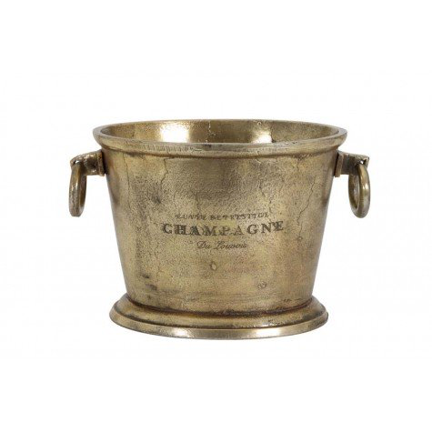 Champagner Cooler antique bronze 39x25x25cm
