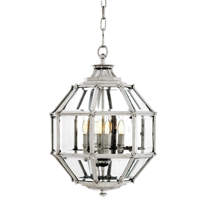 Lantern Owen nickel finish D43cm S